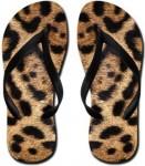 leopard print flip flop sandals