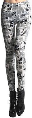 Newspaper Graffiti leggings