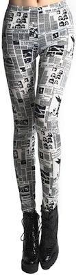 Newspaper Graffiti leggings