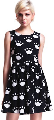 black dress with claw prints