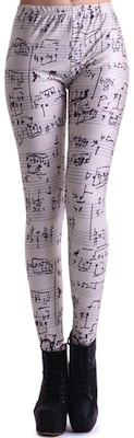 Sheet Music Leggings