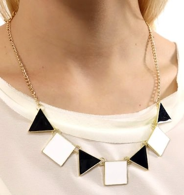Squares And Triangle Necklace