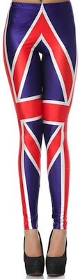 UK Union Jack flag leggings