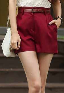 red women's shorts