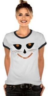women's happy halloween t-shirt