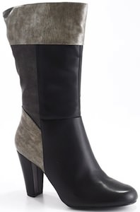 grey toned heeled boots