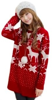 Red Christmas Sweater With Deer