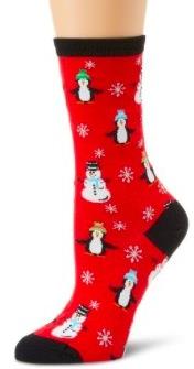 Snowman And Penguin Socks