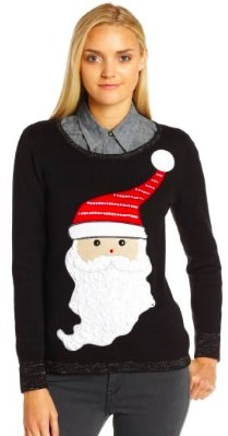 Santa And Sparkles Christmas sweater
