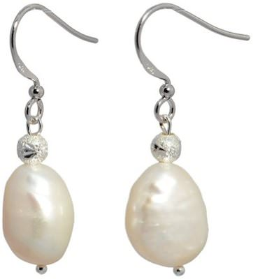 Saint Christine White Pearl Earrings