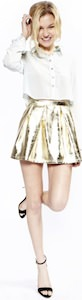 Metallic Gold Skirt