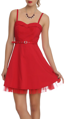 Royal bones red lydia dress