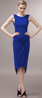 Long Blue Sleeveless dress