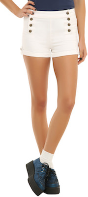 White women's Shorts