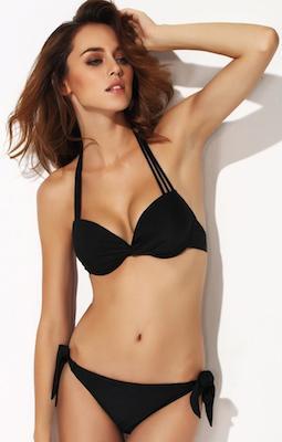 Black Ruffle Bikini