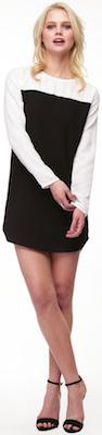 Illusion Black And White Color Block dress