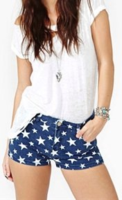 Blue Shorts With White Stars