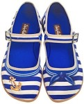 Blue And White Sailor Flats
