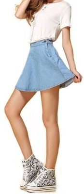 Hight Waist Denim Mini Skirt