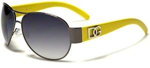 DG Metal Women's Aviator Sunglasses