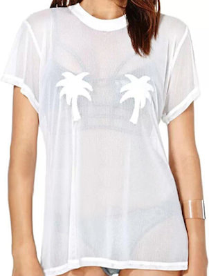 Mesh Palm Tree T-Shirt