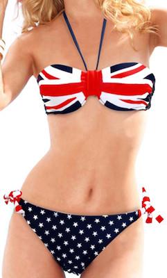 Union Jack Drawstring Bikini