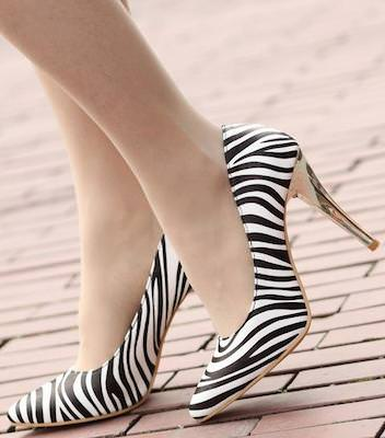 High Heel Zebra Print Shoes