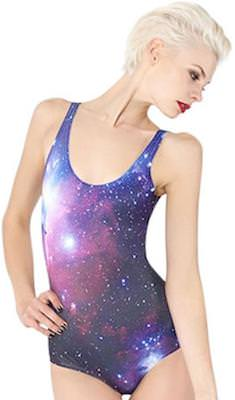 Purple galaxy swimsuit