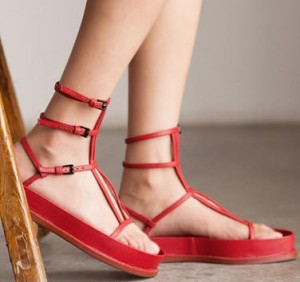 Red and Black funky sandals
