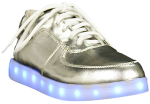 Shiny Shoes With Light Build In