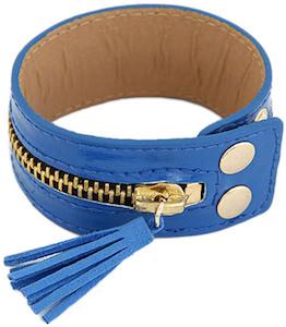 Zipped tassels bracelet