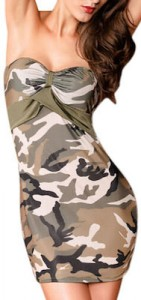 Strapless Camouflage Dress