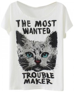The Most Wanted Trouble Maker T-Shirt