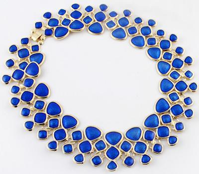 cut out droplets necklace