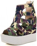 Camouflage Platform Sandals