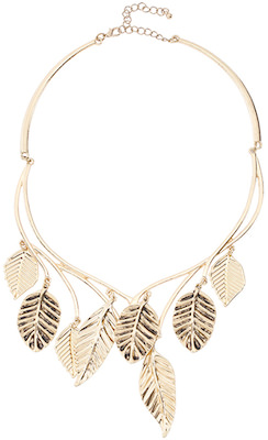 Leaves Necklace In Gold Or Silver