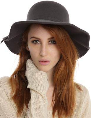Grey Floppy Felt Hat