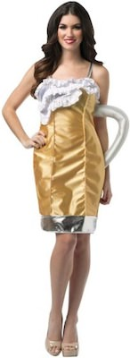 beer glass women's costume