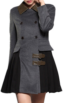Women's Double Breasted Panel Coat
