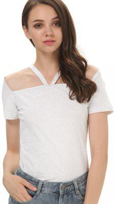 White Cut Out T-Shirt