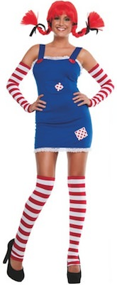 Women's Pippi Longstocking Costume