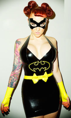 Latex Batman Dress Costume