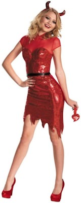 Women's Sequin Devil Costume