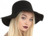 Black Floppy Felt Hat