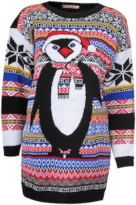 Aztec Penguin Ugly Christmas sweater