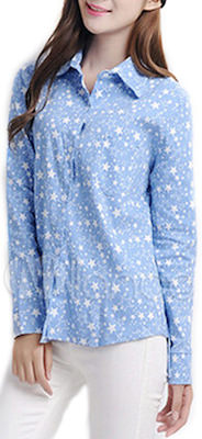 Light Blue Stars Women's Shirt