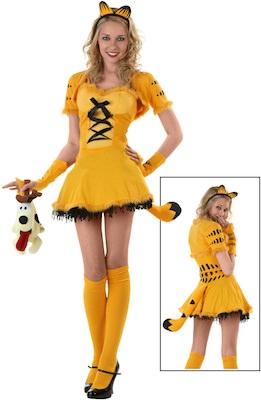 Women's sexy Garfield Costume