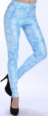 Lightblue Snowflake Leggings