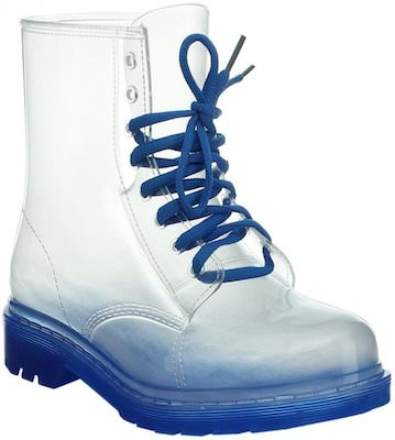 Plastic Lace Up Boots In Fun Colors