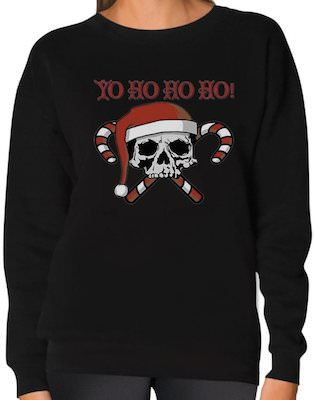 Yo Ho Ho HO! Skull Christmas Sweater